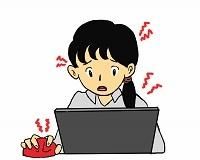 ブログ記事画像_パソコンで困る女性