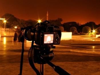 夜のカメラ