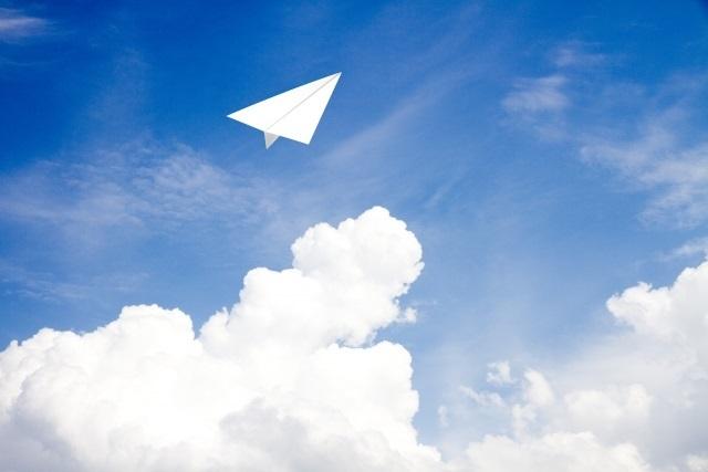希望の紙飛行機