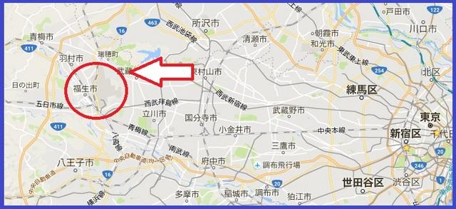 横田基地_東京都の地図